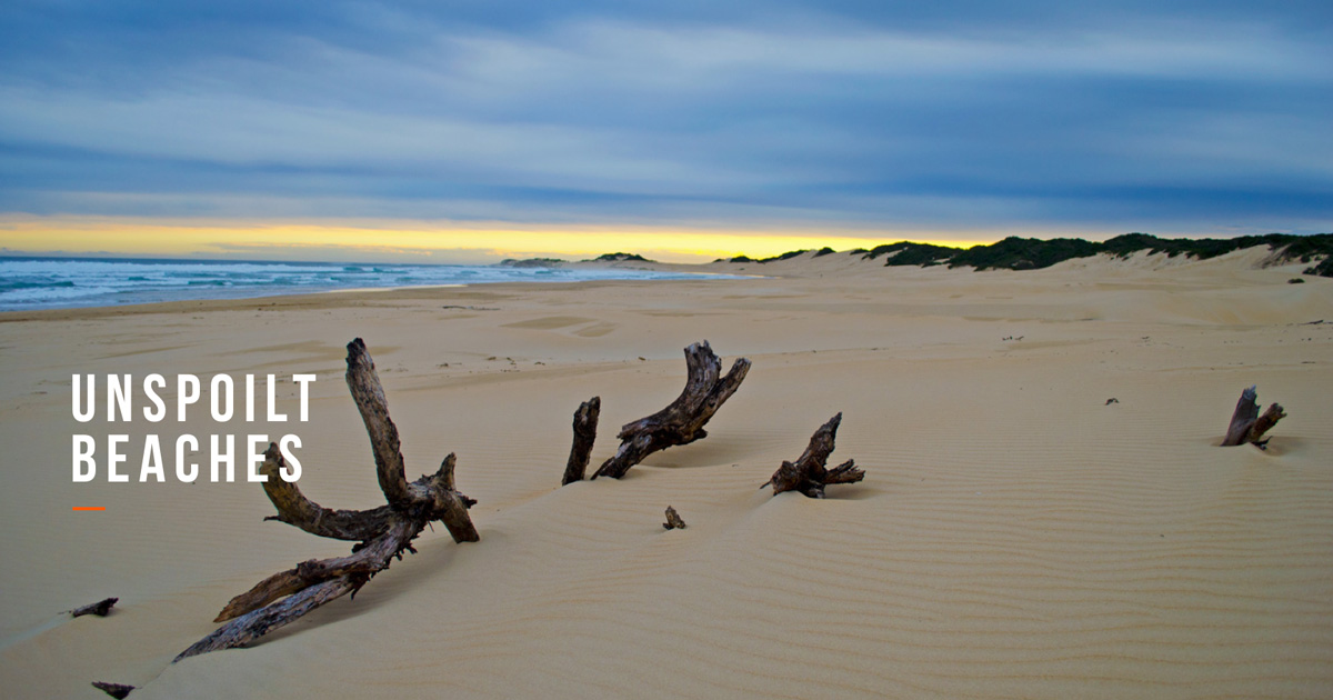 unspoilt beaches boesmans